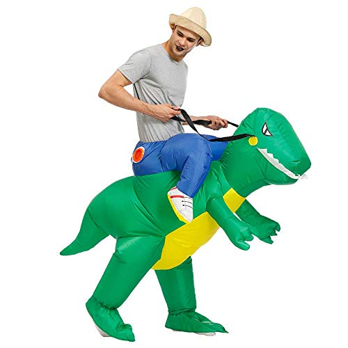 Kooy Inflatable Dinosaur Unicorn Cowboy Costume Halloween Costume Inflatable Costumes for Adults/Child (Green -