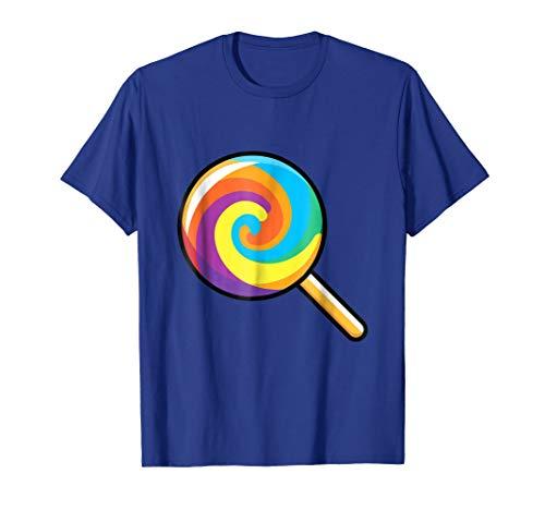 Mens Lollipop Emoji T Shirt Sugar Swirl Lolly