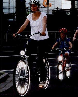 Reflectaclip Spokelight Set 18 Piece Bike Bicycle Fixtures Fittings Accessories