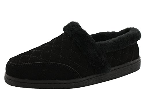 CLARKS Bella Women's Quilted Closed Back Slippers (11 B US, Black) ()