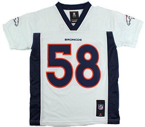 White Super Bowl Jersey - Outerstuff Von Miller Denver Broncos #58 NFL Youth Mid-Tier Jersey White (Youth Xlarge 18/20)