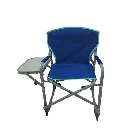 CONVENIENT,PORTABLE AND DURABLE OZARK TRAIL KIDS DIRECTOR CHAIR WITH SIDE TABLE,WITH PADDED ARMREST AND CARRY STRAP,COLLAPSIBLE FOR EASY TRANSPORT AND STORAGE,BLUE