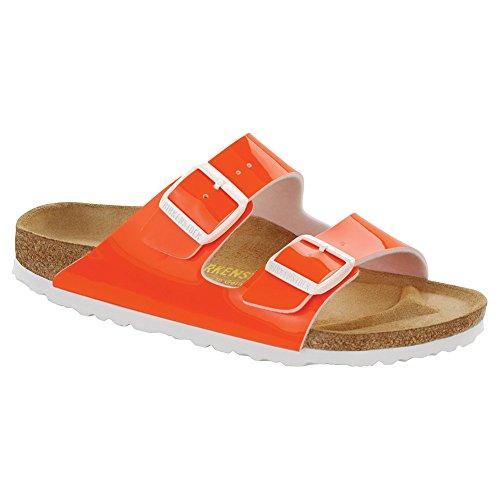 Birkenstock - Sandalias con hebilla unisex Neon Orange Patent Birko-Flor