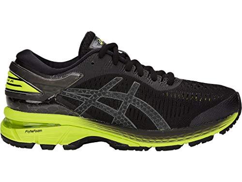 ASICS Kid's Gel-Kayano 25 GS Running Shoes, 4M, Black/NEON Lime