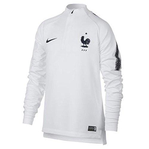 2a002046b6 Nike 2018-2019 France Training Drill Top (White) - Kids