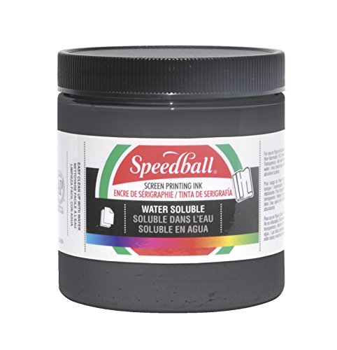 Speedball Water Soluble Screen Printing - Speedball Non-Toxic Non-Flammable Water Soluble Screen Printing Ink, 1 qt Jar, Black