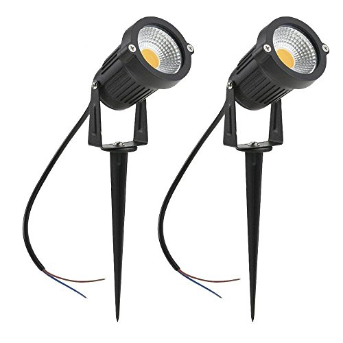 ZUCKEO Landscape Lights 5w Pathway Lights Warm White Low Voltage Outdoor Garden Yard Lawn Deck Driveway Flood lighting-2pack