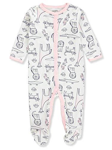 - Carter's Baby Girls' Footed Coverall - Cream/Black, 3 Months