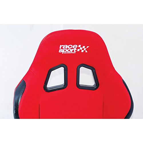 Race Sport Baquet Tech-Art En Tissu Rouge