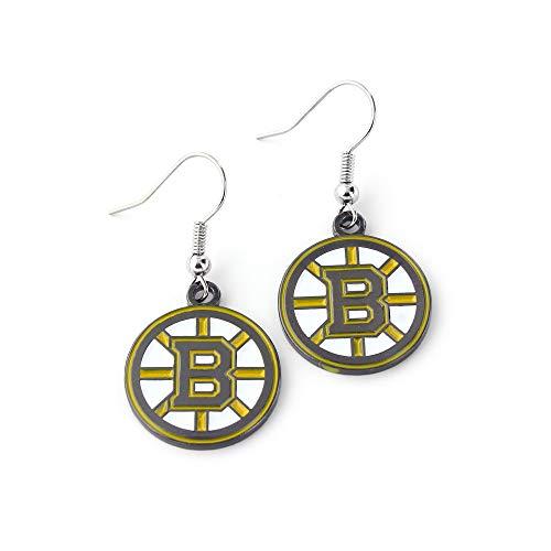 NHL Boston Bruins Logo Dangler Earrings