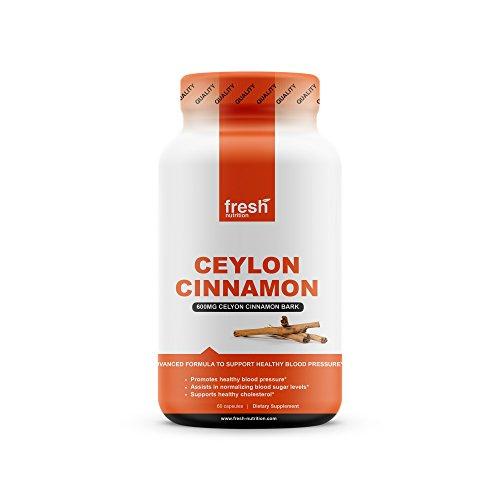 Ceylon Cinnamon Capsules - Blood Pressure Formula Containing Cinnamon Bark Powder & Advanced Blood Pressure Support Complex - Hawthorn Extract - Berberine HCI - Chromium Picolinate & Vitamin D3