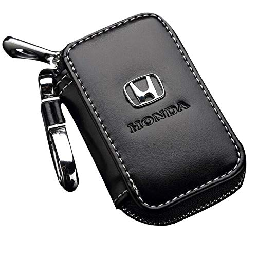 (Leather Car Key Case Remote Control Package Auto Key Chains (fit H))