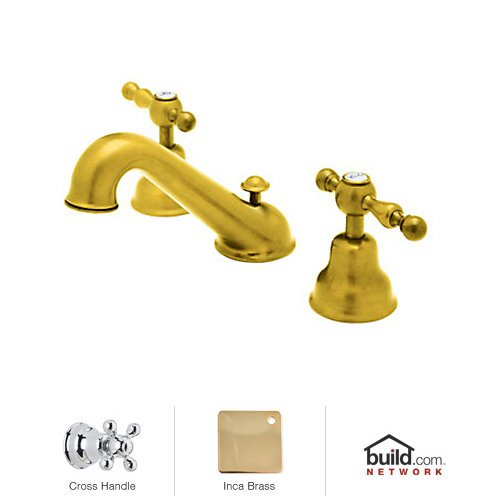 Rohl Pop (Rohl AC102X-IB-2 Cisal Widespread Bathroom Faucet with Metal Cross Handles and Pop, Inca Brass)