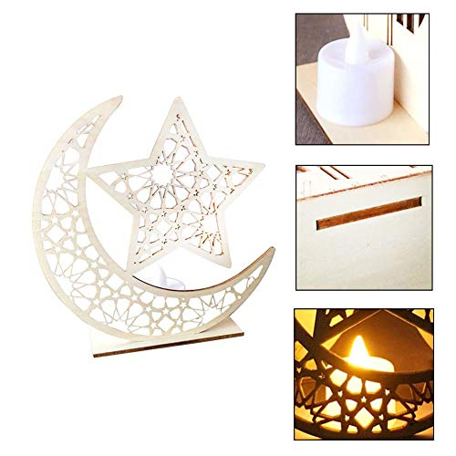 - Moon Star Islam Hanging Pendant Plate with LED Light, Muslim Islam Hanging Pendant DIY Eid Mubarak Muslim Home Decoration, Crafts Activities Gifts