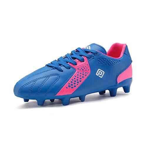DREAM PAIRS Girls Hz19006k Soccer Football Cleats Shoes Royal Blue Fuchsia Size 3 M US Little Kid