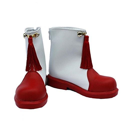 Sakura Kinomoto Cosplay Schoenen Laarzen Op Maat Gemaakt Rood En Wit