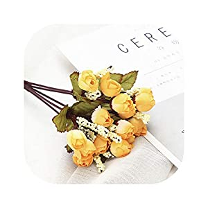 vibe-pleasure Silk Small Artificial Rose Daisy Camellia Flowers Party Home Decor Wedding Decoration Accessories,D 68