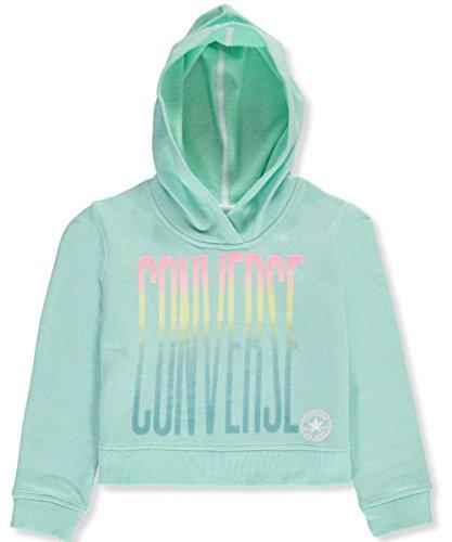 Converse Big Girls' Hoodie (Sizes 7-16) - Green Glow, 7