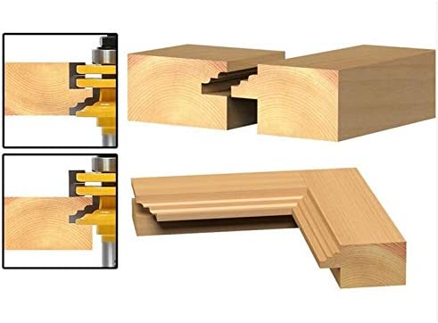 HWW-Drills, 1Pc/2Pcs 8mm/12.7mm 1/2 Inch Shank Glass Door Rail & Stile Reversible Router Bits Wood Cutting Router Tool (Size : 1pc 8mm And 12.7mm)