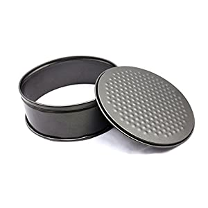 "Non-stick Round Springform Pan, Leakproof Cake Pan Bakeware Cheesecake Pan,Black(2pcs -7""/9.5"")"