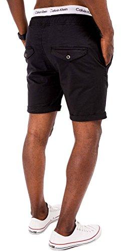 Pantalón Para Negro Básico Chino solid Corto Hombre g8w8Sv