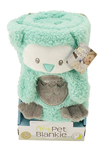 My Pet Blankie Original, Ultra Soft, 3-in-1-Blanket, Pillow, Plush Toy, Teal Owl, 26