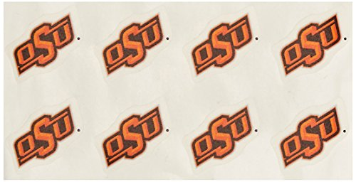 Rico NCAA Oklahoma State Cowboys Face Tattoos, 8-piece Set (Cowboys College Basketball)