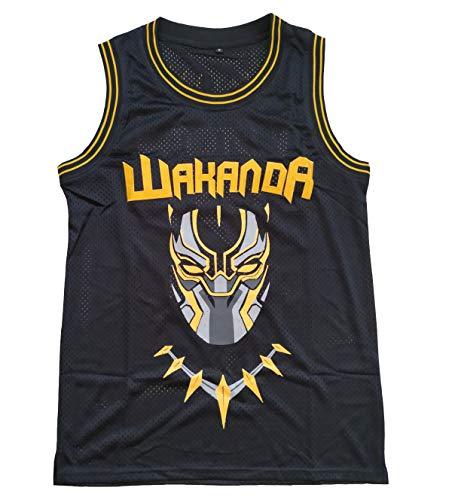 Supereasydeal #2 Black Panther Wakanda Killmonger Movie Basketball Jersey Men Black (Black, - Jerseys Panthers Mens
