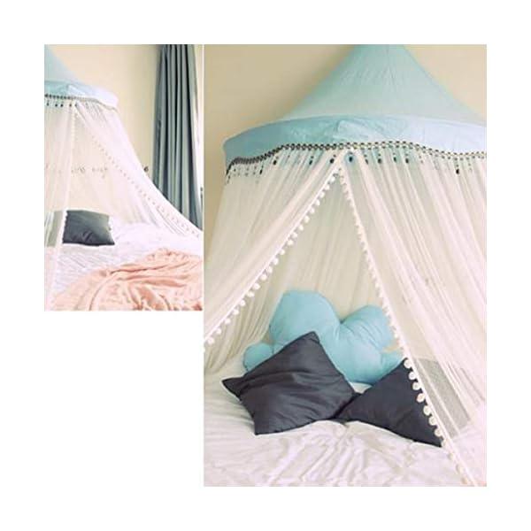 Bulawlly Lettino Canopy Rotonda Dome, Principessa Letto a baldacchino zanzariera da Letto, Tenda del Gioco Decorazione… 4 spesavip