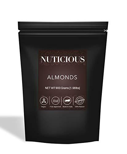 NUTICIOUS All Natural Popular Whole Premium Almonds (Badam)-900 Ge (Gourmet Food Premium Quality)
