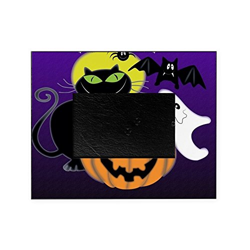 [CafePress - Cute Halloween Scene - Decorative 8x10 Picture Frame] (Cute Halloween Pictures Of Cats)