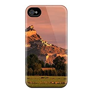 Ultra Slim Fit Hard Wade-cases Specially Made Case For Iphone 6 4.7Inch Cover Hilltop Castle Under A Pink Sky