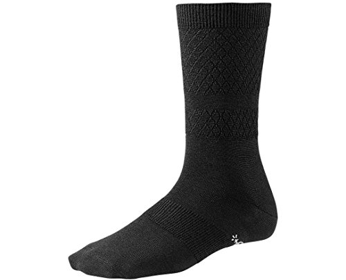 (Smartwool Women's Texture Crew Black Small)