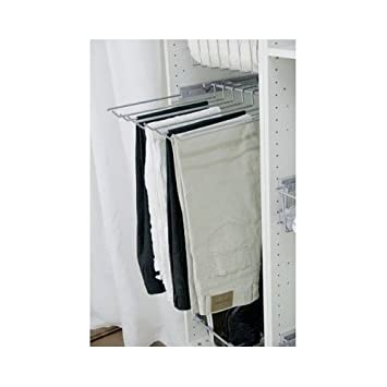Pull Out Pants Rack Extendable Organizing Closet Trouser Hanger Sliding  Storage