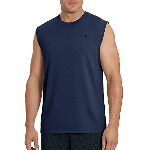 Champion Men's Classic Jersey Muscle T-Shirt, Navy, S