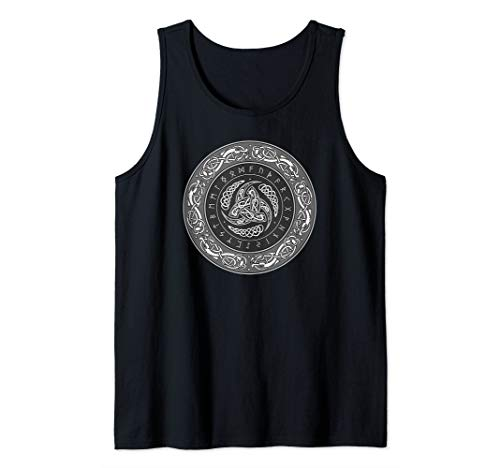 Horns of Odin Triskelion with Runes Tank Top