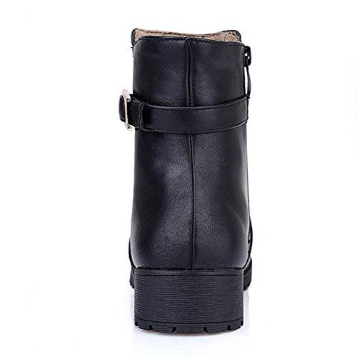 cinturón antideslizante goma y desgaste de botas HFour negro Amarillo Seasons bajas marrón hebilla H 37 de remache botas yellow XIAOGANG Women altas 8TwxBUq