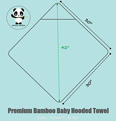 Premium Ultra Soft Bamboo Baby Hooded Towel and Washcloth Sets with Unique Design – Hypoallergenic Animal Bear Boy Girl Bath Towels for Infant and Toddler – Suitable as Newborn Shower Gifts - Stripe
