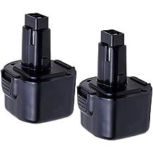 [Patrocinado] Vanon 2.0Ah 9,6V batería de repuesto para Dewalt DW9061DW9062dw9036DE9062dw9614DW050DW902DW911dw921DW926DW926K dw926K2DW955dw967K; Black & Decker PS120Fire Storm, S, negro - paquete de 3