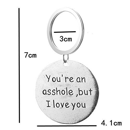 UNKE Funny Dog Tag Keychain Charm Keyring Valentine's Day Gift for Couples Lovers Photo #4