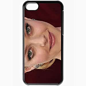 Personalized iPhone 5C Cell phone Case/Cover Skin Amanda Seyfried Blonde Face Close Up Smiling Black