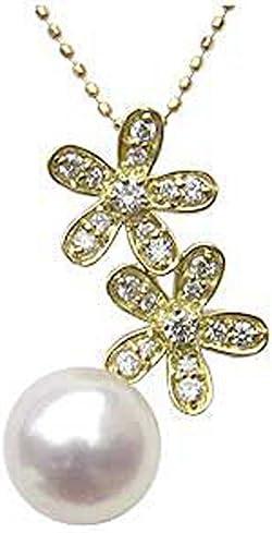 ペンダントトップ k18 ペンダントヘッド 18金 ゴールド 真珠ペンダントトップペンダント あこや真珠パール K18 ゴールド 花 ネックレス ダイヤモンド