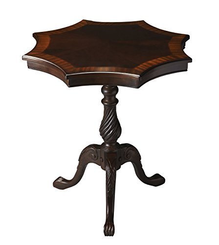 Accent Furniture - Sandringham Accent Table - Star Shaped Table - Cherry (Marquetry Accents)