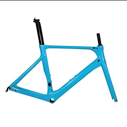YAMEIJIA Cuadro de Bicicleta de Carretera Aero Full Carbon Toray T800 Cuadro de Bicicleta de Carretera de Carbono BB86 DI2 Compatible y maquinaria 50/53 / 56cm por YAMEIJIA
