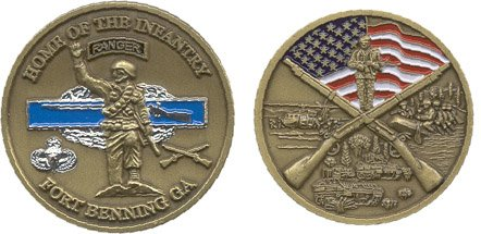 Fort Benning Georgia Challenge Coin by Military Productions (Military Fort)