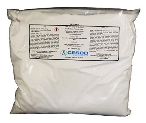 Tetrasodium EDTA 10 lb Bulk Water Softener Chelating Agent Sequester Metal ions ()