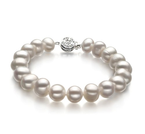 Kaitlyn White 8-9mm A Quality Freshwater Cultured Pearl Bracelet-7.5 in length