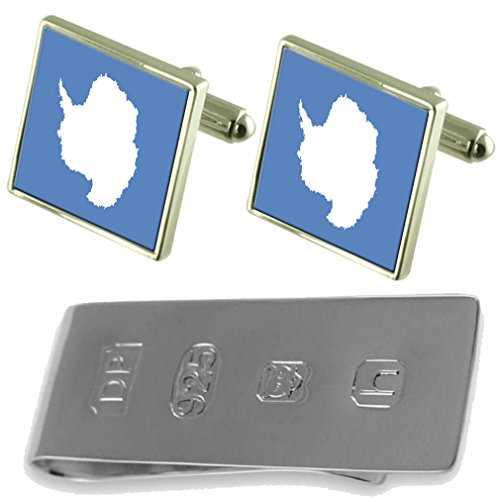 Bond Antarctica Flag Antarctica Clip Cufflinks amp; James Flag Money Ywwfqr