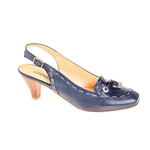 Lottusse Damen Pumps Leder Blau