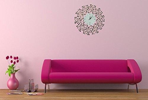 Amazon.com: Lulu Decor, Spring Blooms, Lines Dial, Decorative Metal ...